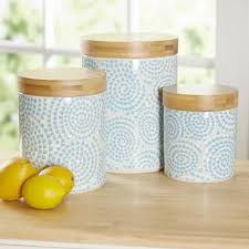 Rustic Kitchen Canisters Blue Kitchen Canisters Jars Youll Love Wayfair