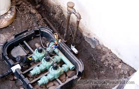 how to install irrigation valves part 1 of the sprinkler system simple practical beautiful