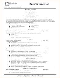 Examples Of Good Resumes For College Students How To Write A