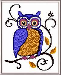 Owl Cross Stitch Pattern Amazing Classic Owl Cross Stitch Pattern Owl