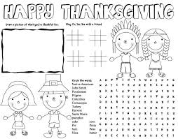 Free Printable Thanksgiving Coloring Placemats Happy Easter