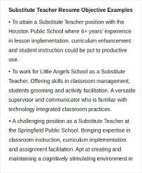 Teacher Resume Objective Inspiration 8722 Teacher Resume Objective Sample Resume For Teachers Teacher Resume