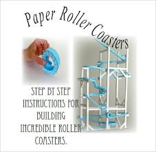 Free Printable Paper Roller Coaster Templates 7 Paper Roller Coaster Templates Free Word Pdf Documents