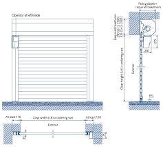 gararoll roller door specification behind opening