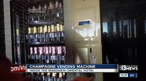 Champagne Vending Machine Amazing Champagne Vending Machine Makes Debut On Las Vegas Strip KTNV