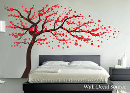 Red Cherry Blossom Tree Wall Decal Vinyl wall by WallDecalSource