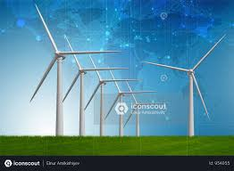 Designing Windmills Premium Concept Of Alternative Energy With Windmills 3d Rendering Photo Download In Png Jpg Format