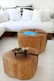 diy coffee table round wood round coffee table tree stump himself making