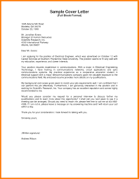 Cover Letter Sample Template For Fresh Graduate In Electrical And
