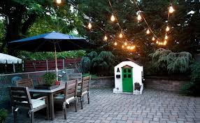 outdoor hanging lights string. i love outdoor lights strung over a patio. we had to go for around the patio because hanging them from roof posts would have probably gotten in \u2026 string n
