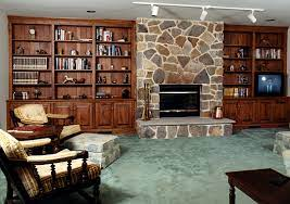 fireplace cabinets built in wall