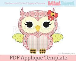 Miss Owl Applique Template PDF Animal Applique Pattern Instant & ð???zoom Adamdwight.com