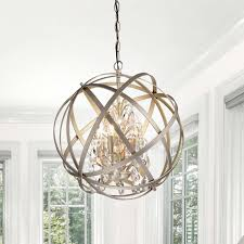 benita antique copper 3 light metal globe crystal chandelier for preferred view 20 inspirations of globe crystal chandelier