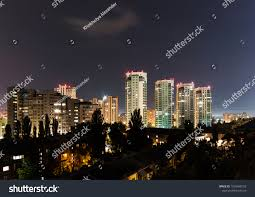 Night City Skyscapes Stock Photo (Edit Now) 1075460153