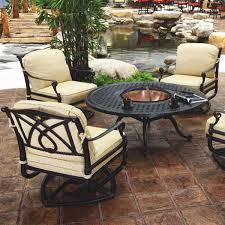 fire pit table with chairs. Grand Terrace - Fire Pit Set By Gensun Table With Chairs P