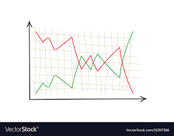 Business Chart Finance Graph On Blank Background