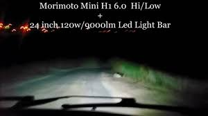 Morimoto Light Bar Morimoto Mini H1 6 0 120w 24inch Led Light Bar Light Storm