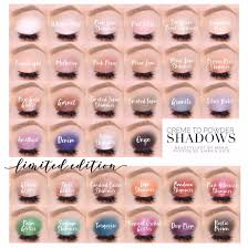 Shadowsense Color Chart 2018 All Permanent Line And Limited Edition Shadowsense Colors
