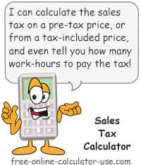 Sales Tax Calculator For Purchase Plus Tax Or Tax Included