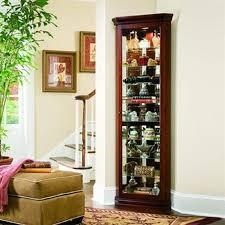 Corner Kitchen Curio Cabinet Shop Pulaski Victorian Cherry Corner Curio Cabinet At Lowescom