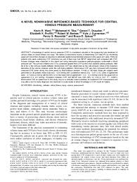Central Venous Pressure Measurements Pdf A Novel Noninvasive Impedance Based Technique For