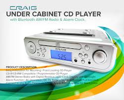 under cabinet cd player with bluetooth am fm radio alarm clock