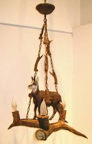 antique black forest antler chandelier