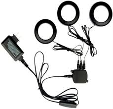3 Light Led Puck Light Kit Amazon Com Commercial Electric 3 Light Led Black Puck Light