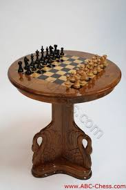 Wooden Game Table Plans Beautiful Teak Wooden Chess Table Swan Model 100100 30