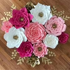 Made Flower With Paper Details About Pre Made Rose Paper Flowers Wedding Party Backdrop Wall Wedding Decor 3d Diy