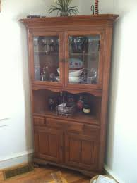 corner hutch dining room. Dining Room Good Looking Corner Hutch New Sideboards Stunning White Oak Cabinet Built In F