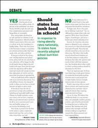 should states ban junk food in schools com should states ban junk food in schools