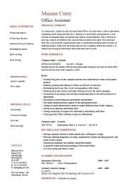 Office Assistant Resume Unique Office Assistant Resume Administration Example Sample References