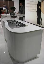 modern curved kitchen island. Curved Kitchen Island White - Formica Laminate Modern