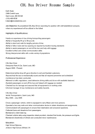 School Bus Driver Resume Examples Examples Of Resumes