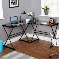 contemporary glass office. Desk:Black Glass Desk With Drawers Frosted Office Black Pc Contemporary R