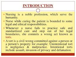 malpractice and negligence  defamation 2 introduction  nursing is a noble profession