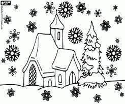 Disegni Di Paesaggi Di Natale Da Colorare E Stampare