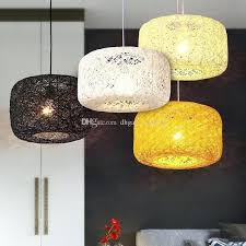 light nest rattan woven pendant light retro lamp birdcage chandelier country fixtures living room bedroom