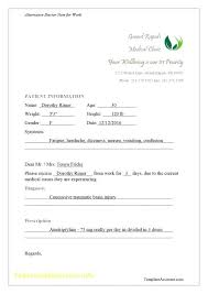 Fake Doctors Note Free For Work Free Doctors Excuse Template Amazing Fake Doctor S Note