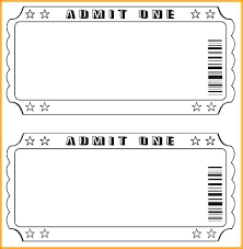 tickets template free ticket templates for word image print tickets free