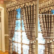 country bedroom curtain plaid curtains for living room country feeling semi shade stripes plaid living room