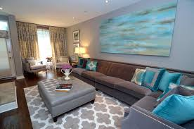 brown and turquoise living room. Plain Brown Sofa Brown And Turquoise Living Room Decor On And R