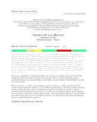 Project Templates Word Free Status Report Template Project Management Weekly Status
