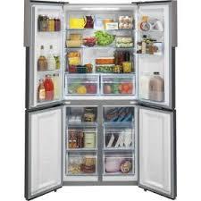 haier french door fridge. +4. haier 16.4 cu. ft. quad french door fridge o
