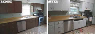 Small Picture Before And After Pictures Of Painted Laminate Kitchen Cabinets