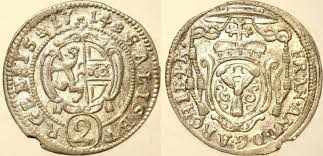 Erzbistum SALZBURG Halber Batzen (2 Kreuzer) 1714 Franz Anton Graf Harrach,  1709-1727 prf +/-   MA-Shops