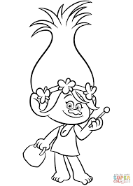 Guy Diamond From Trolls Coloring Page Free Printable Pages Inside