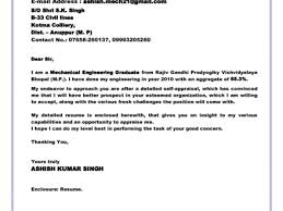 Best Solutions Of Cover Letter For Fresh Graduate Mechanical
