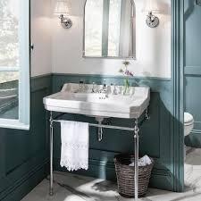 burlington edwardian large 80cm basin with wash stand